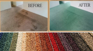 Before and After Cleaning Carpet